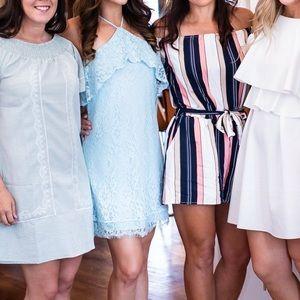 Francesca's Light Blue Lace Dress